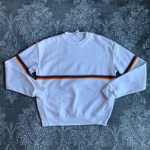 Brandy Melville Rainbow Stripe Crewneck Sweater